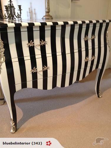 Bu0026w Stripes Furniture Redo Inspiration   Bedroom Dresser Needs Updated Like  This