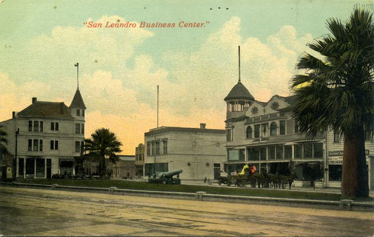 San Leandro CA old postcards Business Center
