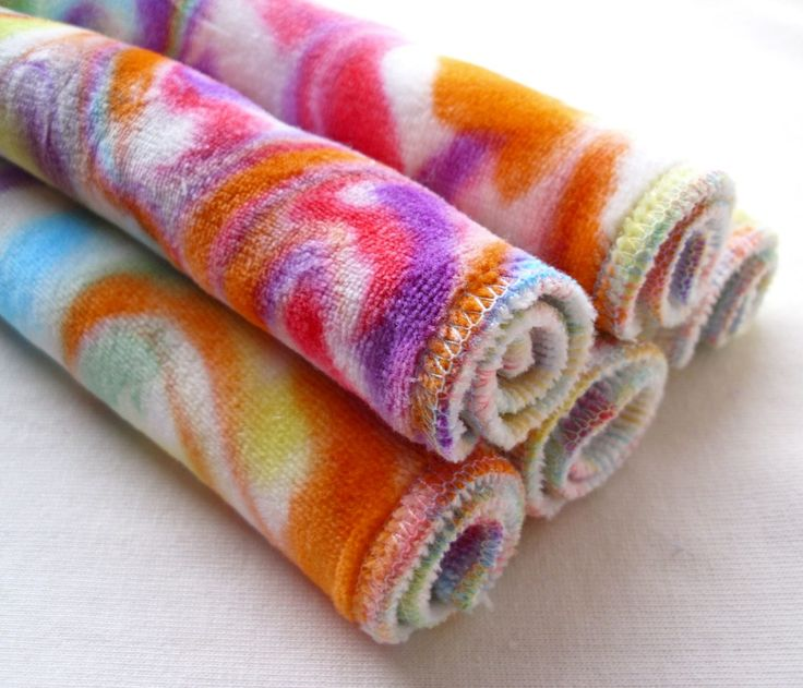 Totally Bummed  tie dye cloth wipes
