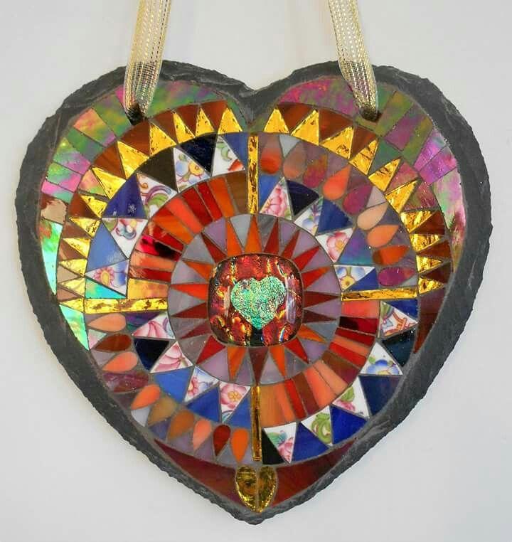 Flower Wall Decor Reversible Mosaic With Chalkboard: Mosaic Art, Mosaic, Mosaic Glass