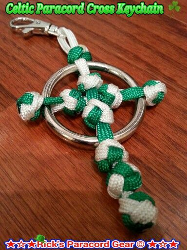 Celtic Paracord Cross Keychain...Happy St. Patty's Day...  Erin Go Braugh