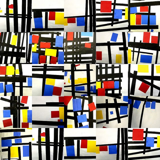 Collage Mondrian