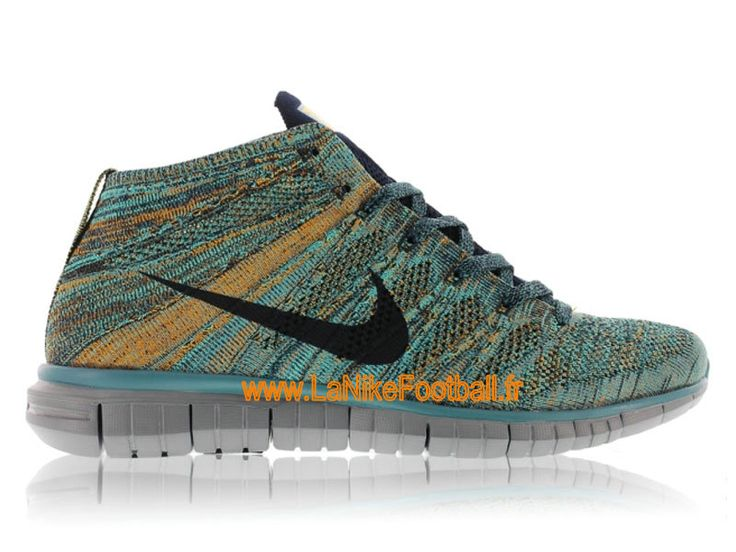 Nike Free Flyknit Chukka Chaussures Nike Running Pas Cher Pour Homme Mineral Teel/Dark Obsidian-Hyper Jade-Copper 639700-301