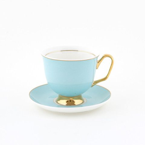 #Pale #Blue #375mL #XL #Teacup and #Saucer #Set | The bigger teacup you've always wanted! Get yours today at lyndalt.com