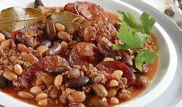 Po sedliacky: Mleté hovädzie mäso s fazuľou
