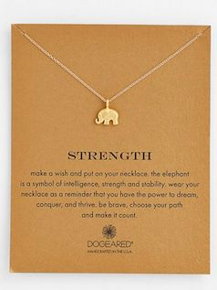 sweet elephant necklace