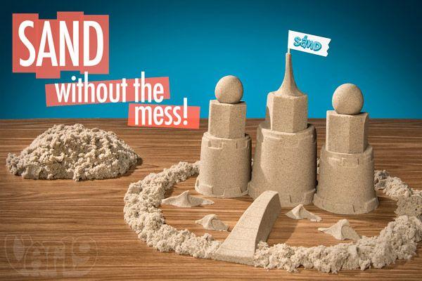 Sand: No-mess kinetic play sand!