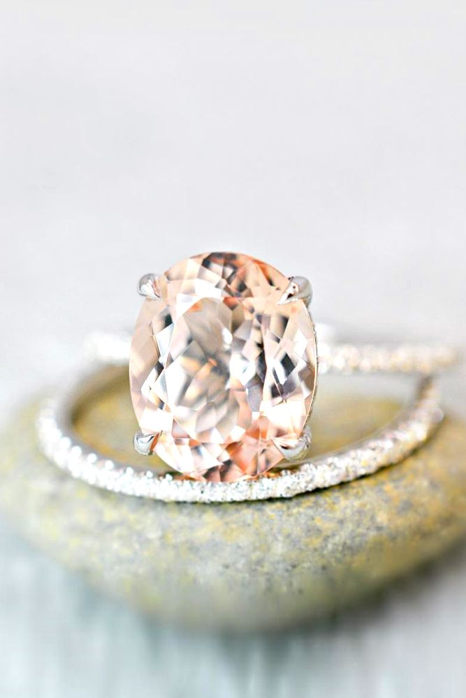 morganite bridal ring sets 6