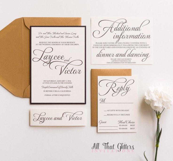 Navy Wedding Invitation   Calligraphy Wedding Invitation   Elegant Wedding Invitations   Formal Invites   black wedding invitations   Laycee by ATGInvitations on Etsy https://www.etsy.com/listing/258406279/navy-wedding-invitation-calligraphy