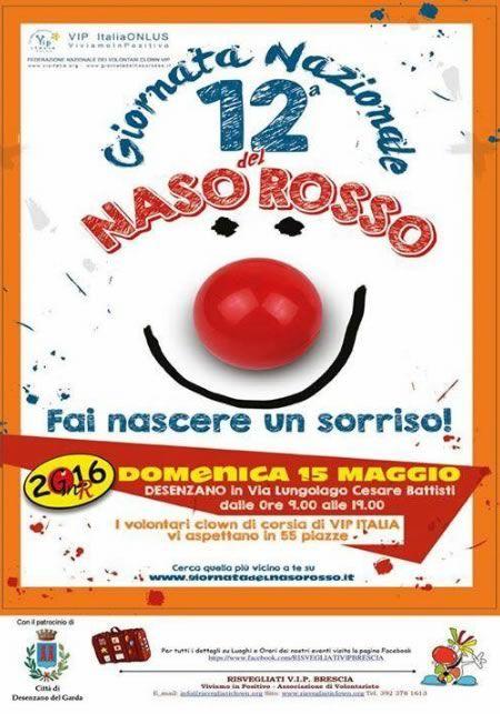 Giornata del Naso Rosso a Desenzano http://www.panesalamina.com/2016/47636-giornata-del-naso-rosso-a-desenzano.html