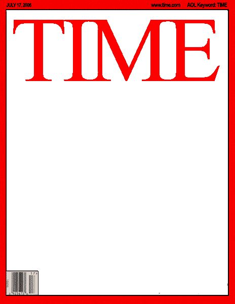 blank time magazine cover