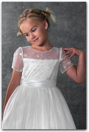 Awesome Fast Shipping New arrival Cute High Backless White Prom Dress Ball Gown Floor Length Kids