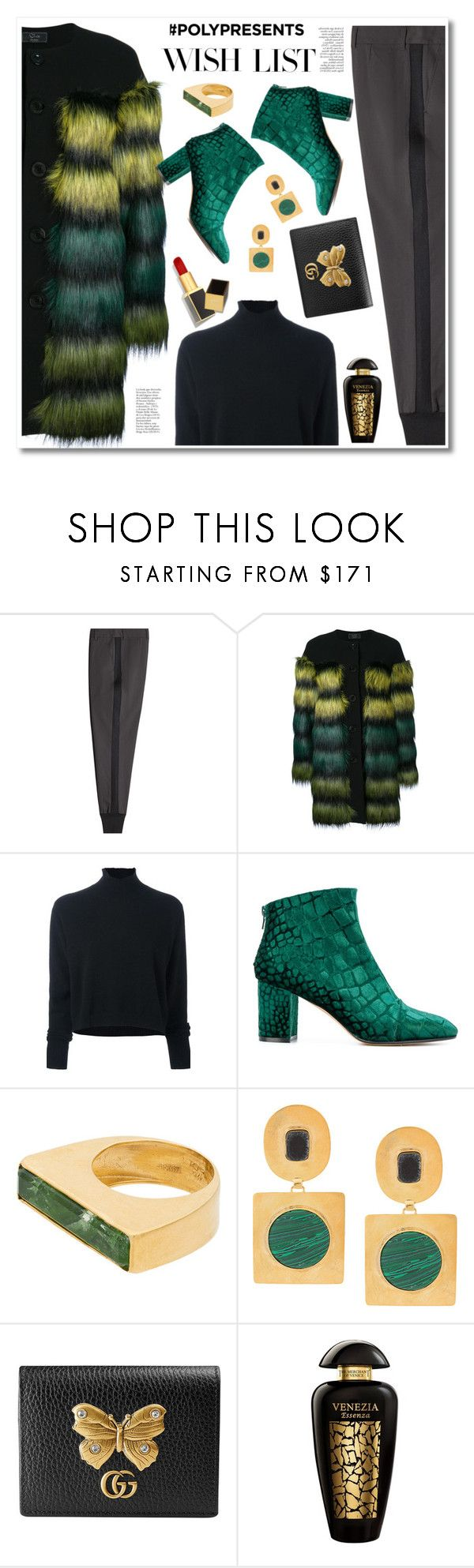 """""""#PolyPresents: Wish List"""" by paculi ❤ liked on Polyvore featuring 3.1 Phillip Lim, KI6? Who Are You?, Le Kasha, Jean-Michel Cazabat, Katerina Makriyianni, Liya, Gucci, The Merchant Of Venice, Tom Ford and contestentry"""