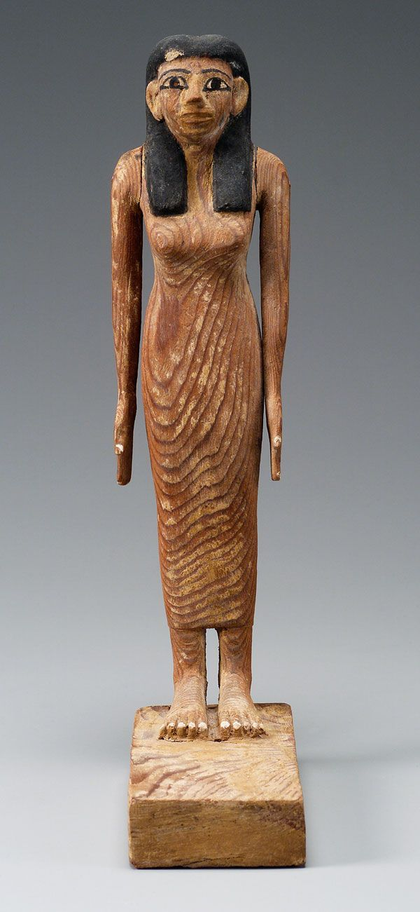 Statuette of Lady Djehutynakht, Egyptian, Middle Kingdom, late Dynasty 11-early Dynasty 12, 2010-1961 B.C., Wood, Museum of Fine Arts, Boston, Harvard University-Boston Museum of Fine Arts Expedition, Photograph © Museum of Fine Arts, Boston.