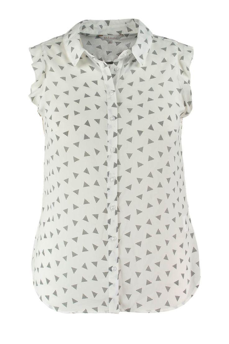 Deze vrolijke blouse mag niet ontbreken in jouw lente en zomer collectie! Wie wordt hier niet vrolijk van? De all over prints zijn makkelijk te combineren met een leuke skinny jeans. De ruches op de kapmouwtjes maken de blouse helemaal af. Lengtemaat: 73 cm in maat L    Pasvorm: Losvallend Wasvorm: Machinewas