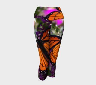Monarch Butterfly Yoga Capris preview