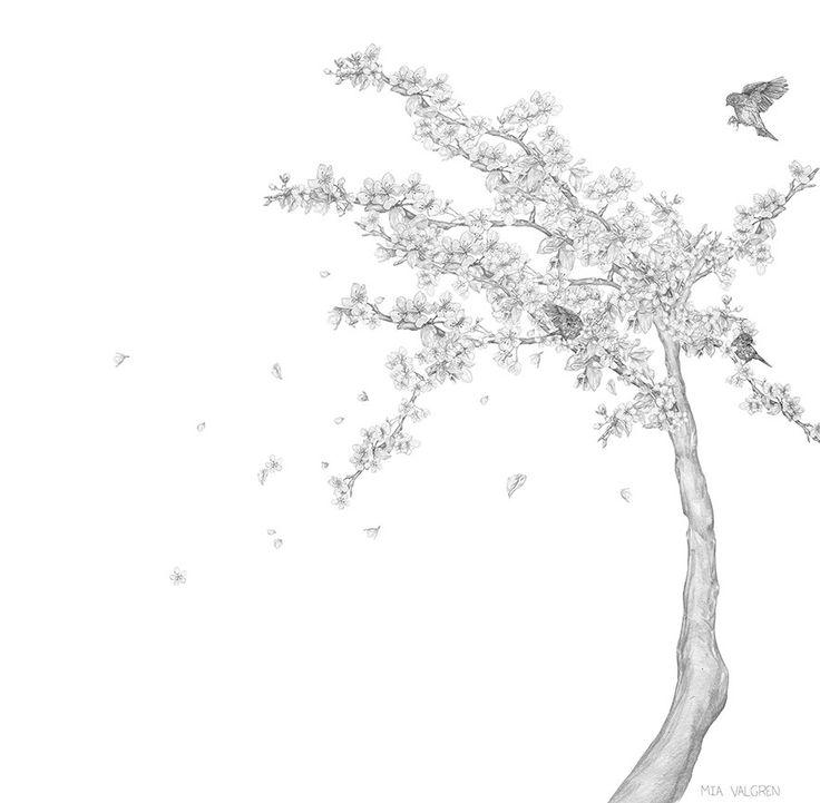 Tapet skapad på uppdrag av Mr Perswall Wallpaper made by illustrator Mia Valgren. Client: Mr Perswall