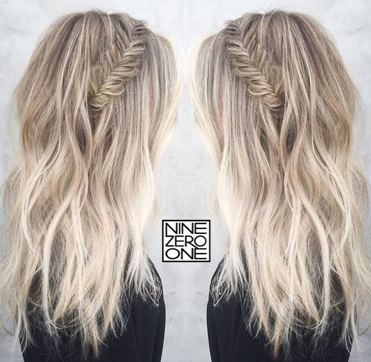Icy blonde and braids by #901artist @morganparks901! #blonde #platinum #sombre #braids
