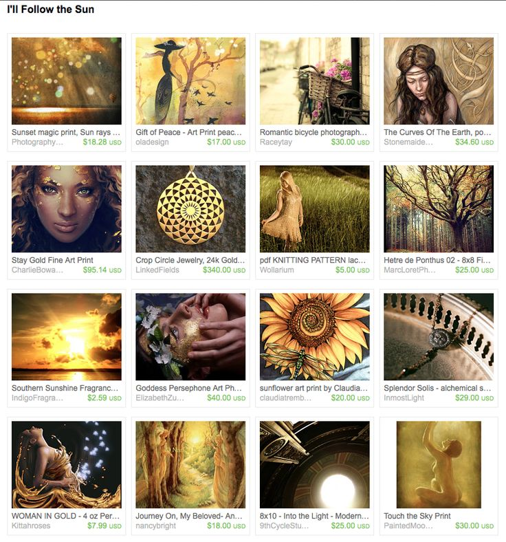 """I created this treasury """"I'll Follow the Sun"""" for the #TreasuryChallengeNonTeam Challenge # 187"""