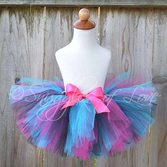Rock Star Tutu  Hot Pink  Black  Turquoise Blue  by SnugglesofLove, $29.00