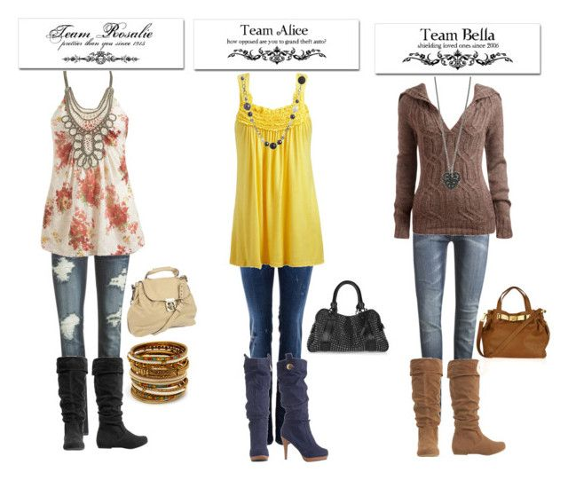 """""""twilight outfits"""" by lr23 ❤ liked on Polyvore featuring Wet Seal, Dsquared2, B. Ella, NYMPHENBURG, Amrita Singh, Burberry, Michael Kors and Chloé"""