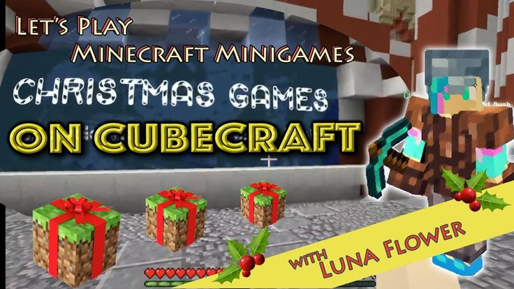 Let's Play Minecraft Minigames, Cubecraft Christmas Games