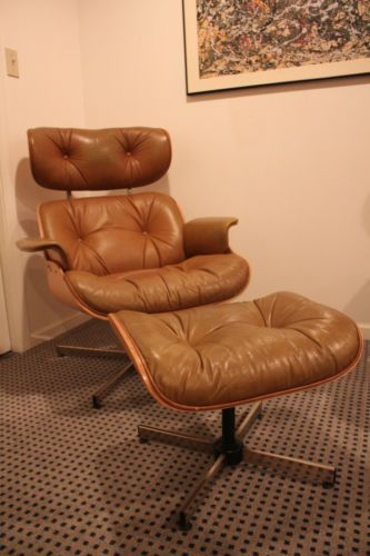 Mid Century Modern Plycraft Selig Eames Style Lounge Chair Ottoman Atomic  Ranch  eBay