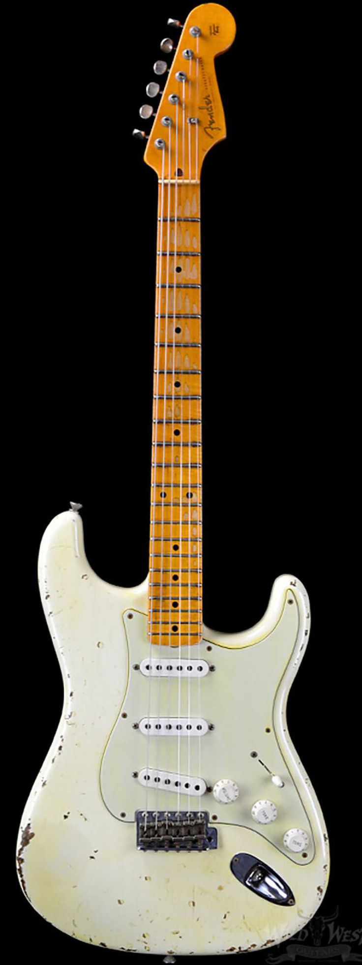 Fender 1956 Stratocaster Heavy Relic AA Flame Maple Neck Faded Olympic White