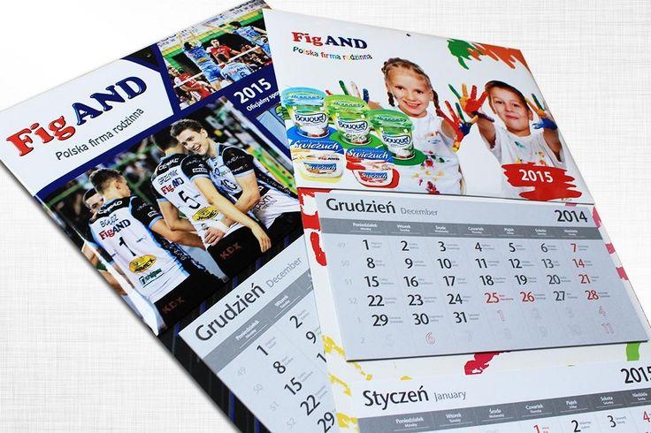 Kalendarz trójdzielny, najtańsza cyfrowa oferta na rynku przy zachowaniu wysokiej jakości z zadrukiem plecków.