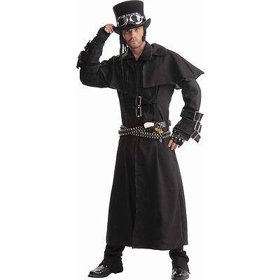 STEAMPUNK Adult Mens DUSTER COAT Costume Standard Victorian Cowboy Sci Fi