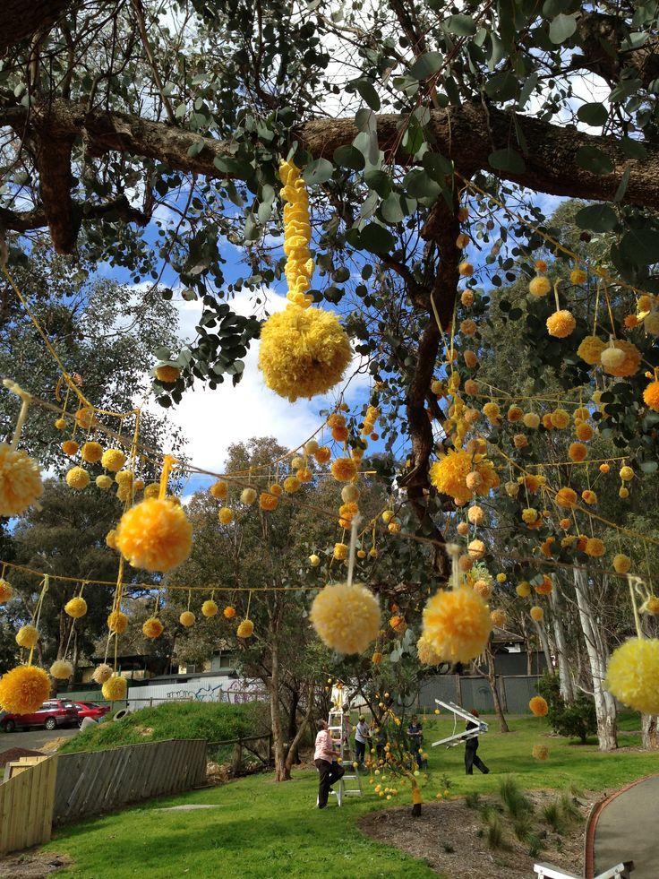 Yellow tree Hurstbridge Yarnbombers