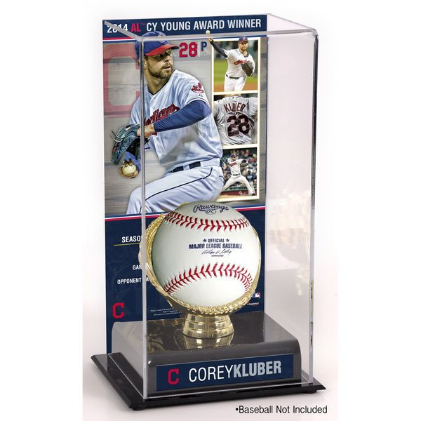 Corey Kluber Cleveland Indians Fanatics Authentic 2014 American League Cy Young Award Gold Glove with Image Display Case - $49.99