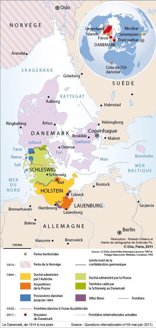Le Danemark, de 1814 à nos jours