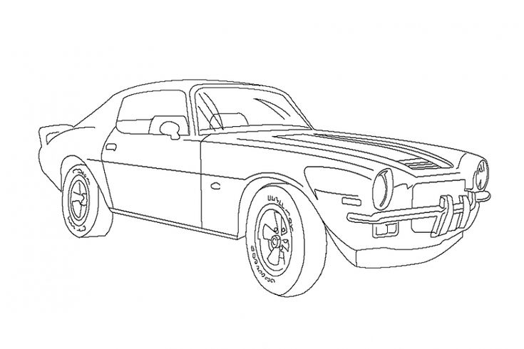 Olds classic Camaro coloring pages