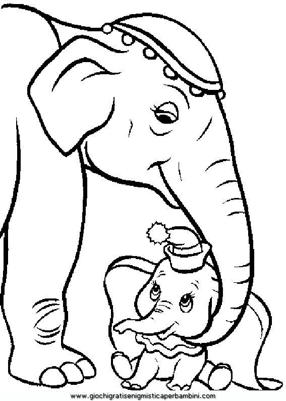 dumbo_b01 Disegni da colorare gratis per bambini