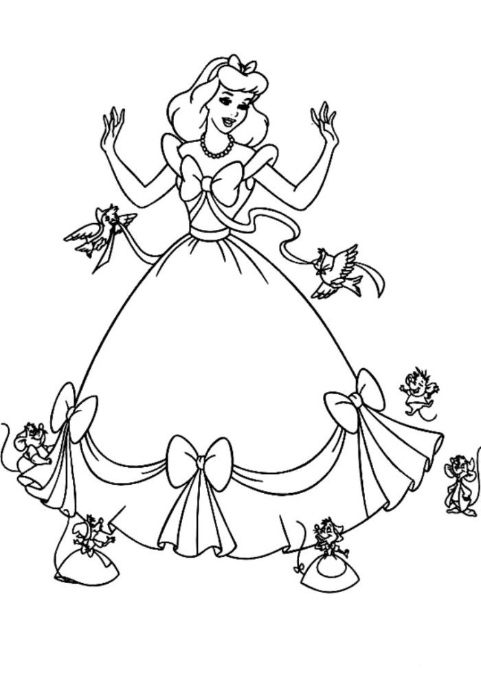 Cinderella Dress Coloring Book Coloring Coloring Pages