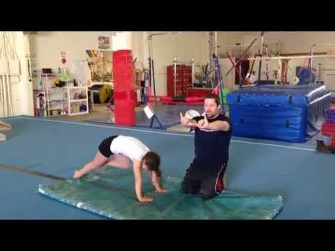 preteam handstand flatback and backhandspring drill