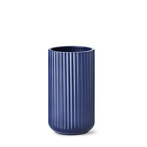 Our 25 cm original Lyngby vase in matt blue porcelain