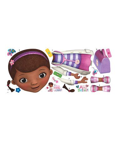 Take a look at this Doc McStuffins Peel & Stick Giant Wall Decals by Doc McStuffins on #zulily today!
