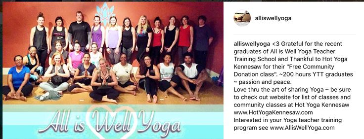 Image from community teaching class following recent graduates from All is Well Yoga Teacher Training @ www.alliswellyoga.com To your Best~  Namaste