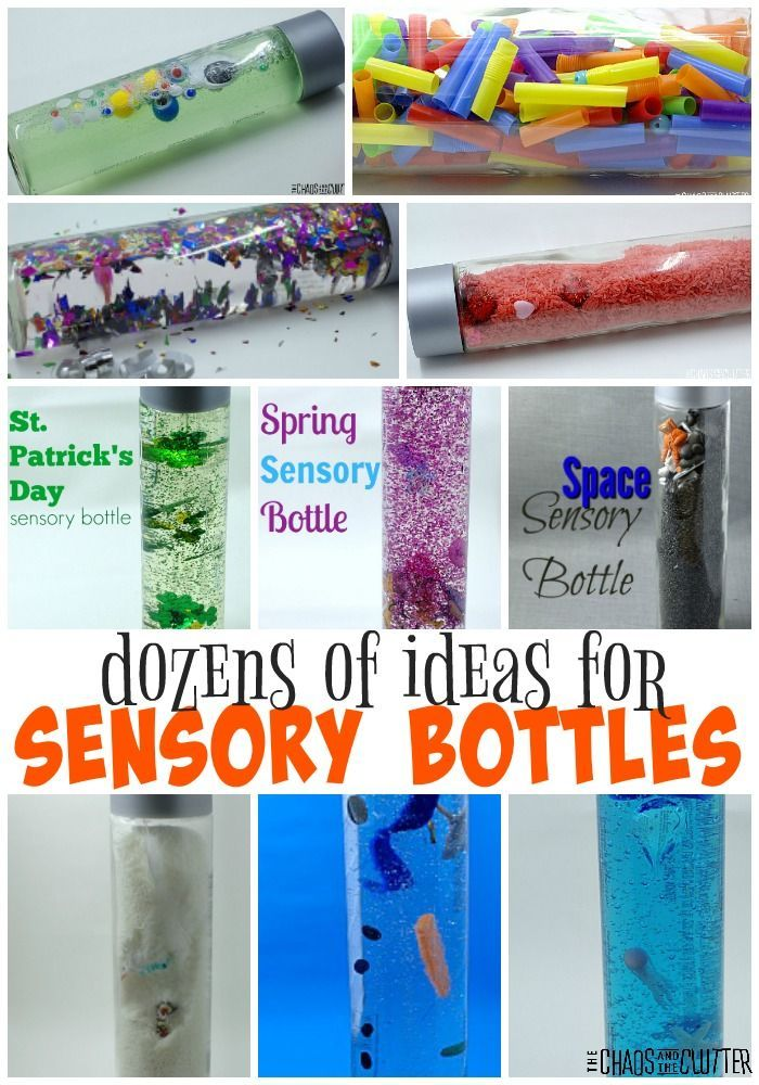 Dozens of awesome ideas for making sensory bottles