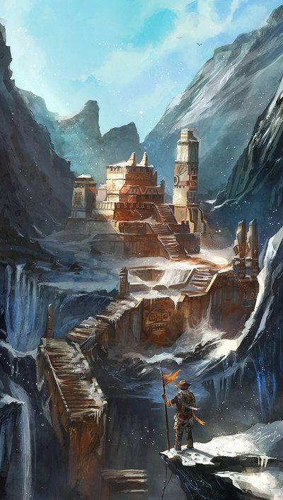 A antiga cidade do  quase extinto clã Viktus, na montanha da Serpente