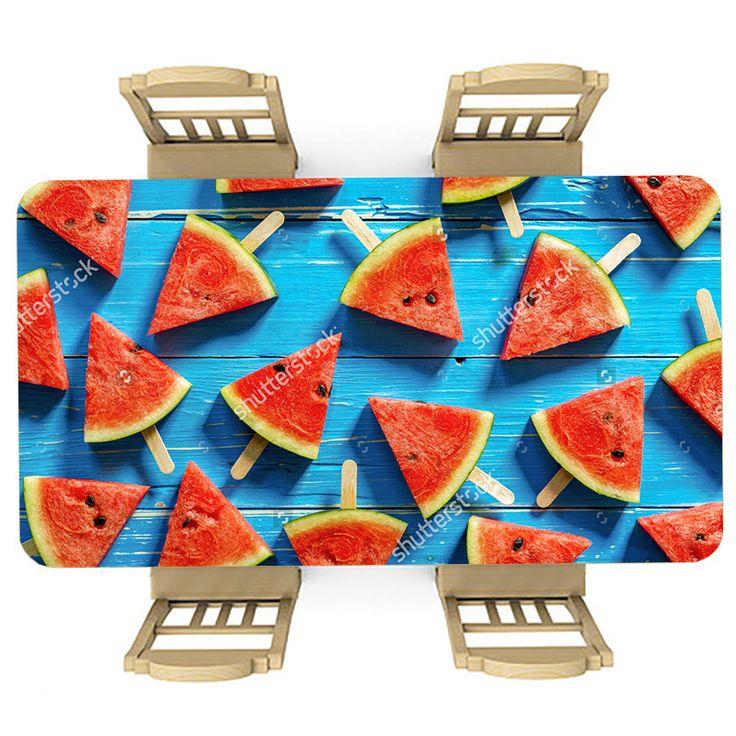 Tafelsticker Watermeloen ijs   Maak je tafel persoonlijk met een fraaie sticker. De stickers zijn zowel mat als glanzend verkrijgbaar. Geschikt voor binnen EN buiten! #tafel #sticker #tafelsticker #uniek #persoonlijk #interieur #huisdecoratie #diy #persoonlijk #watermeloen #meloen #blauw #hout #ijs #ijsje #zomer