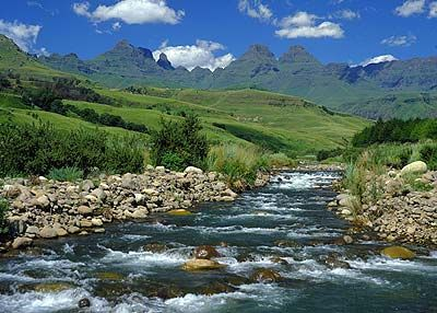 Drakensberg, South Africa - see what I mean? Yow.