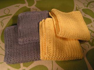 Lilians strikkeblog: Opskrift på karklud