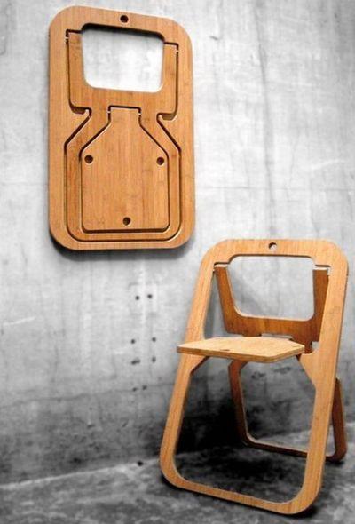 Good wood - 'Desile' folding chair by Vange