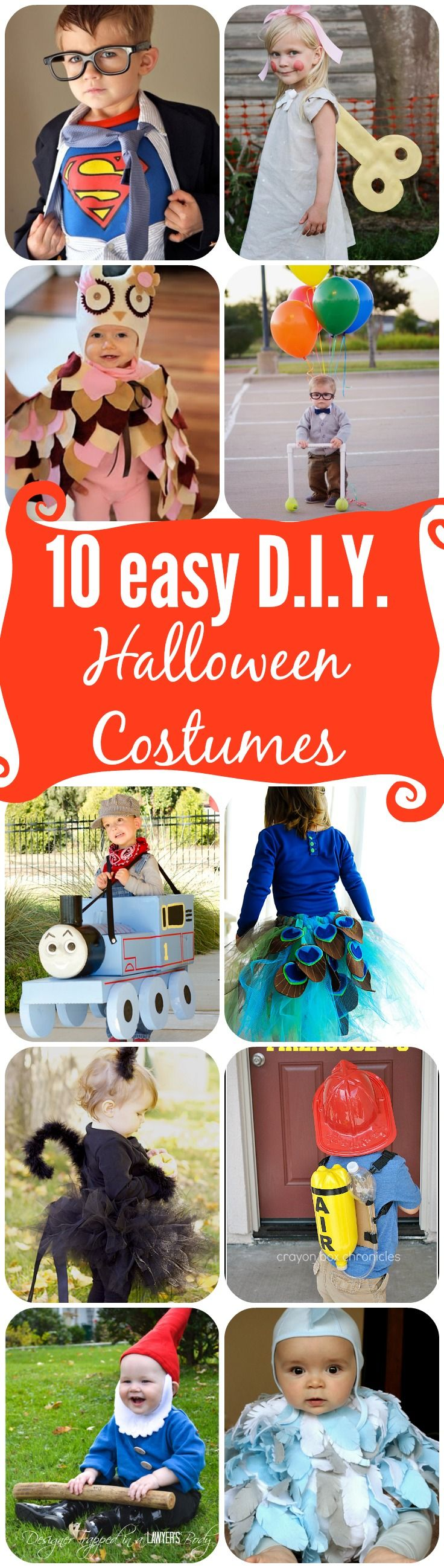 10 adorable DIY Halloween costumes for toddlers!  #diyhalloween #halloweencostumes #diyhalloweencostume