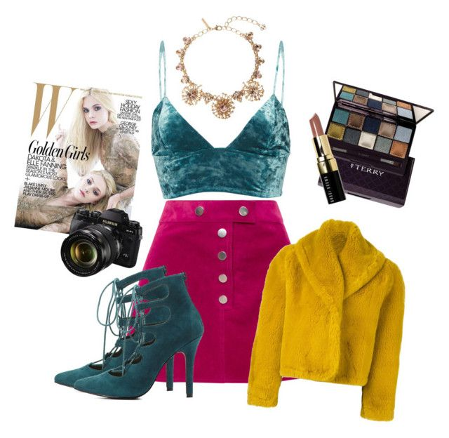 fashion week: stand out color blocking by srsstreetcouture on Polyvore featuring polyvore, fashion, style, Fleur du Mal, Jean-Paul Gaultier, Courrèges, Charlotte Russe, Oscar de la Renta, By Terry, Bobbi Brown Cosmetics, Fujifilm and clothing