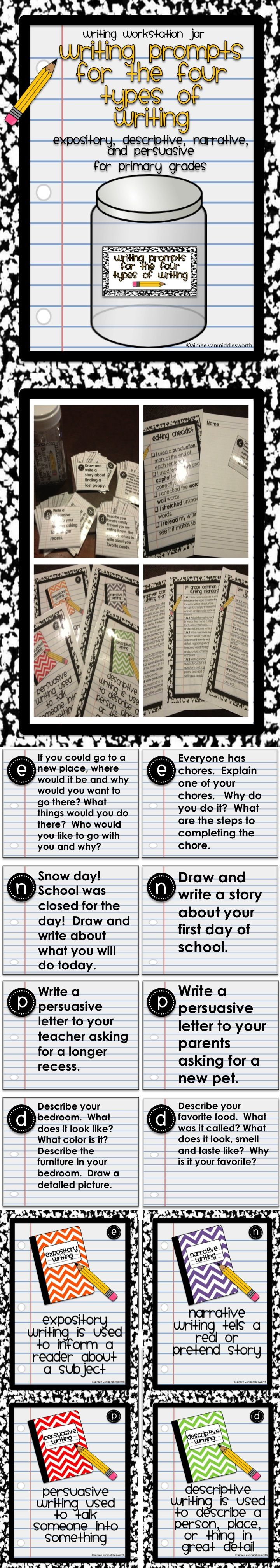 Center Jar Common Core Writing Prompts for