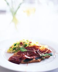 """Literally translated, saltimbocca means """"jump in the mouth,"""" a clear indication of just how good this classic dish tastes.  Slideshow: More Veal Recipes"""